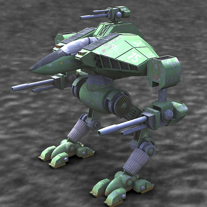 Cougar Robot Mech (Poser, Vue & OBJ) by RPublishing
