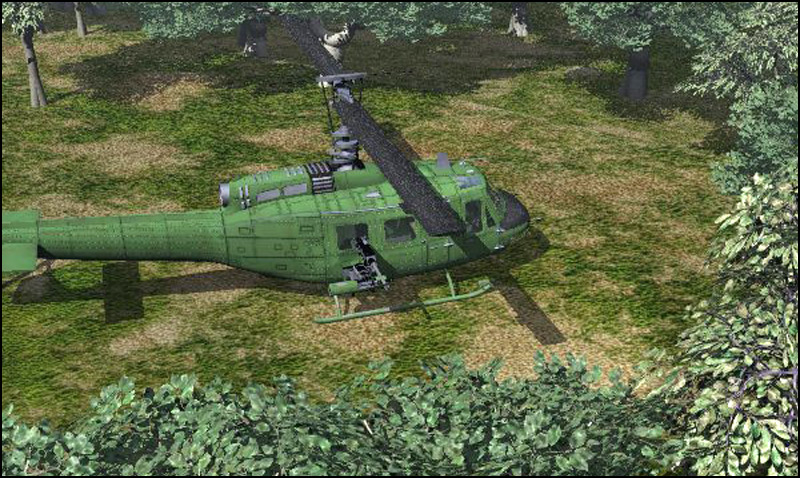 Huey Type Helicopter (Poser, Vue & OBJ) by RPublishing
