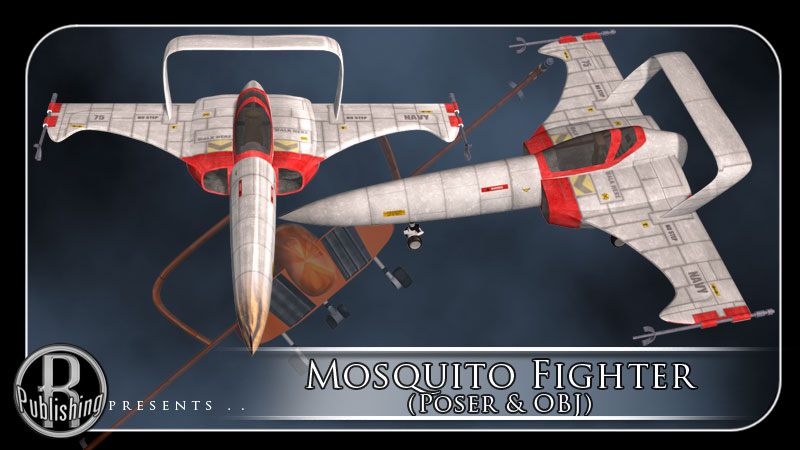Mosquito Fighter (Poser & OBJ)