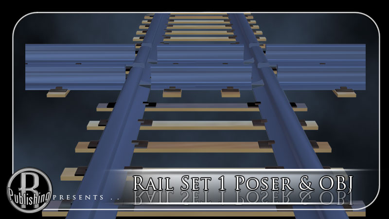 Rail Set 1 for Poser & OBJ