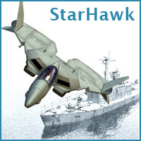 Starhawk (Poser, OBJ & Vue) Themed Transportation Props/Scenes/Architecture RPublishing