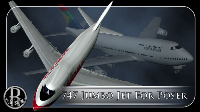 747 Jumbo Jet (Poser, VUE & OBJ) by RPublishing