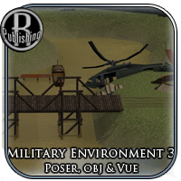 Military Environment 3 (Poser, OBJ & Vue) Props/Scenes/Architecture Themed RPublishing