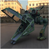 Firebat Scout Walker (Poser & OBJ) Themed Props/Scenes/Architecture Stand Alone Figures Transportation RPublishing