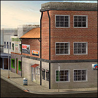 Urban Buildings Set (Poser & OBJ) 3D Models RPublishing