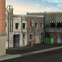 Urban Buildings Set (Poser & OBJ) image 1