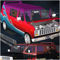 Panel Van (Poser, OBJ & Vue) Transportation Themed Stand Alone Figures Props/Scenes/Architecture RPublishing