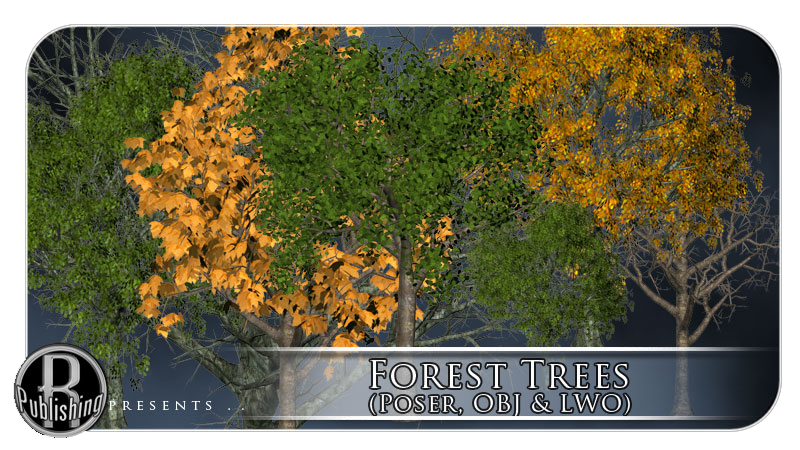 Forest Trees (Poser, OBJ & LWO)