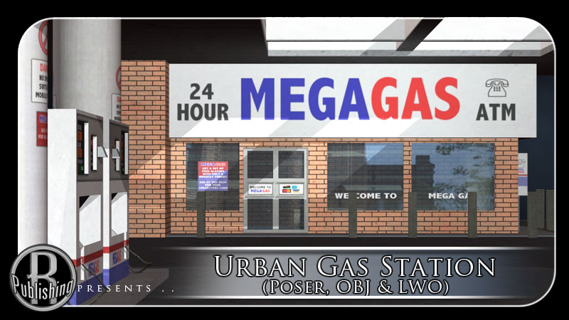 Urban Gas Station (Poser, OBJ & LWO)