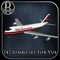 747 Jumbo Jet for Vue 3D Models RPublishing