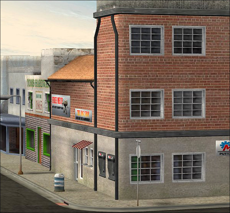 Urban building set lwo 3d models rpublishing for Build house online 3d free