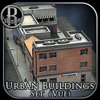 Urban Building Set for Vue 3D Models RPublishing