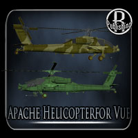 Apache Helicopter for Vue 3D Models RPublishing