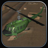 Huey-type Helicopter for Vue image 1