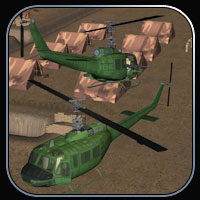 Huey-type Helicopter for Vue image 2