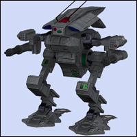 Grasshopper Mech (Poser & OBJ) 3D Models RPublishing