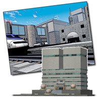 Corporate Buildings (Poser, Lightwave & OBJ) image 4
