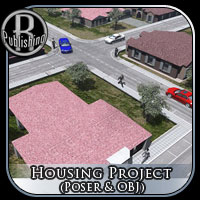 Housing Project (Poser & OBJ) Props/Scenes/Architecture Themed RPublishing