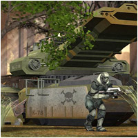 Future War - Heavy Metal (Poser, OBJ & Vue) Props/Scenes/Architecture Transportation RPublishing
