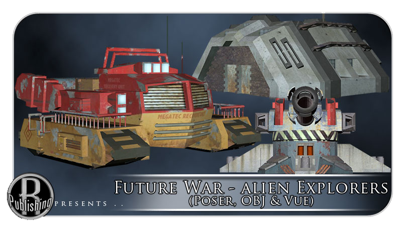 Future War - Alien Explorers (Poser, OBJ & Vue)