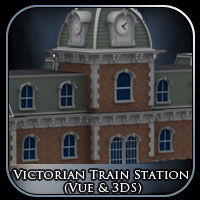 Victorian Train Station (Vue & 3DS) Props/Scenes/Architecture Themed RPublishing