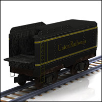 Coal Tender (Poser, Vue & OBJ) Themed Transportation Props/Scenes/Architecture RPublishing