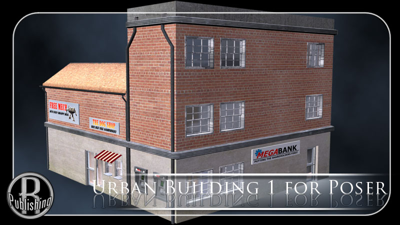 Urban Building 1 (Poser and OBJ) by RPublishing