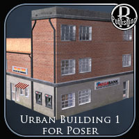 Urban Building 1 (Poser and OBJ) 3D Models RPublishing
