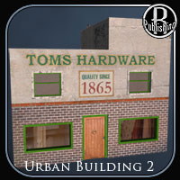 Urban Building 2 (Poser & OBJ) 3D Models RPublishing