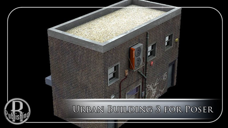 Urban Building 3 (Poser and OBJ) by RPublishing