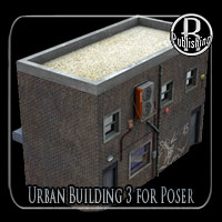 Urban Building 3 (Poser and OBJ) 3D Models RPublishing