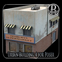 Urban Building 4 (Poser and OBJ) 3D Models RPublishing