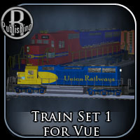 Train Set 1 for Vue Props/Scenes/Architecture Themed Transportation RPublishing