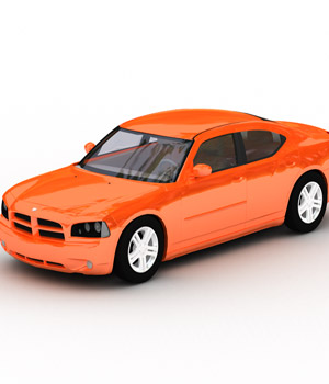 Dodge Charger 2008 (3ds, LWO & Obj) 3D Models RPublishing