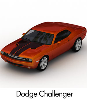 Dodge Challenger 2008 (3ds,lwo & obj) 3D Models RPublishing