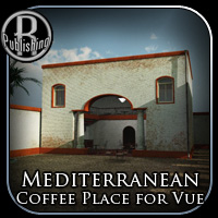 Mediterranean Coffee Place (for Vue) 3D Models RPublishing