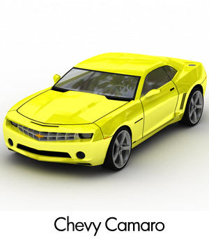 Chevrolet Camaro 2007 (3DS, LWO & OBJ) 3D Models RPublishing