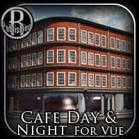 Cafe Day and Night for Vue 3D Models RPublishing