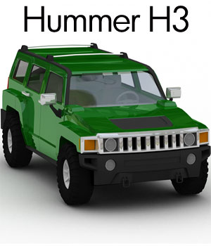 Hummer H3 2008 (3DS, LWO& OBJ) 3D Models RPublishing