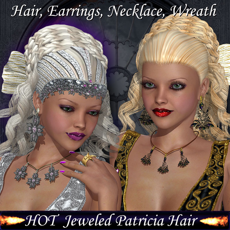 HOT Jeweled Patricia Hair