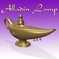Alladin Lamp Themed Props/Scenes/Architecture Simon-3D