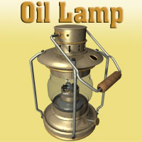 OIl Lamp Themed Props/Scenes/Architecture Simon-3D