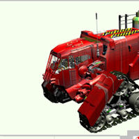 Little Rover Tractor 3D Models rj001