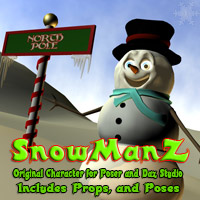 SnowManZ Themed Stand Alone Figures Poses/Expressions Software MRX3010