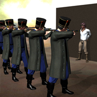 Firing Squad Drama 3D Models 3D Figure Essentials Don