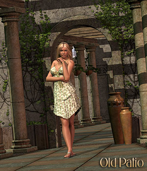 Old Patio 3D Models 3D Figure Assets RPublishing