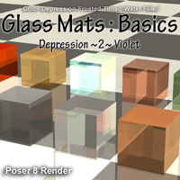 Glass Mats : Basics 3D Figure Assets 2D Graphics ayukawataur