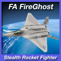 FA FireGhost Stealth Rocket Fighter Themed Transportation fireangel