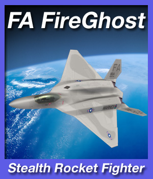 FA FireGhost Stealth Rocket Fighter 3D Models fireangel