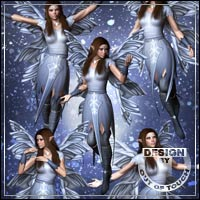 Winter Fairy Poses for V4 3D Figure Assets 3D Models outoftouch